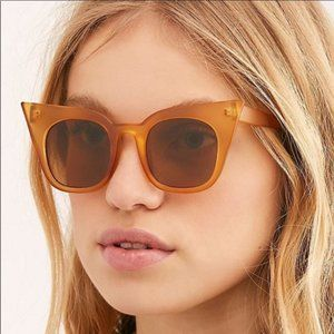 Free People Callie Cat Eye Sunglasses